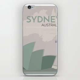 Sydney Poster iPhone Skin
