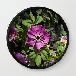 Wild Rose Phoenix Photograph Wall Clock