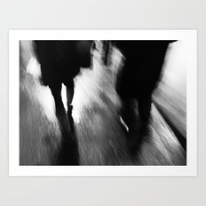 A Walk in the Rain Art Print