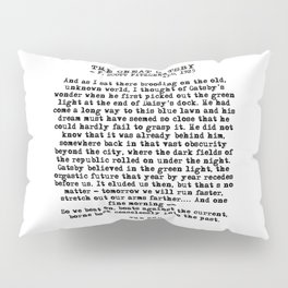 Ending of The Great Gatsby - Fitzgerald quote Pillow Sham