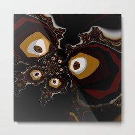 Fractal Butterfly Metal Print