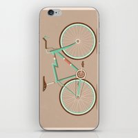 bicycle iPhone & iPod Skins featuring Bicycle by Daniel Mackey