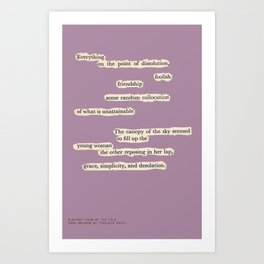 Blackout Poem {007.} Art Print