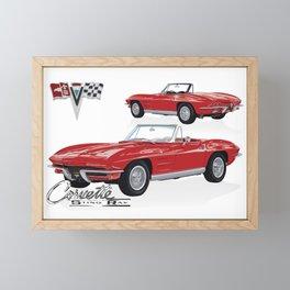 Classic American Sports Car 1964 Framed Mini Art Print