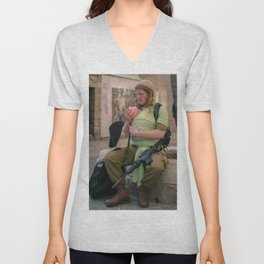 A Soldier & His Baby Unisex V-Neck