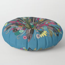 bohemian posy blue Floor Pillow