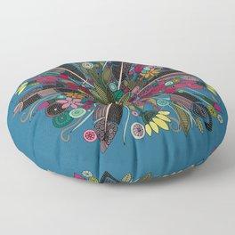 bohemian posy blue Floor Pillow