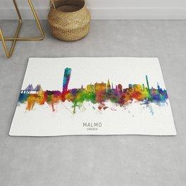 Malmo Sweden Skyline Rug
