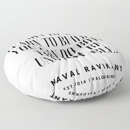 8   |Naval Ravikant Quotes Series  | 190618 Floor Pillow