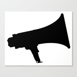 Megaphone Silhouette Canvas Print