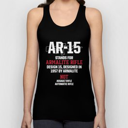 Patriotic Ar15 V5 M 0019 Ar 15 Stands For Armalite Hanes Veteran T-Shirts Unisex Tank Top