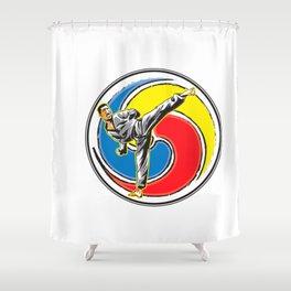 Karate logo Shower Curtain