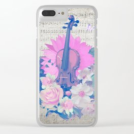 """VIOLIN by collection """"Music"""" Clear iPhone Case"""