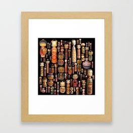 Kokeshi Framed Art Print