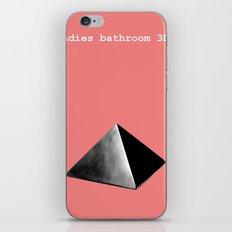 Ladies' bathroom 3D iPhone & iPod Skin
