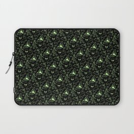 Cryptid Pattern: Green Lines Laptop Sleeve