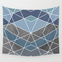geometry Wall Tapestries featuring Geometry by Marta Olga Klara