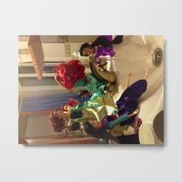 GIrls Shower Metal Print