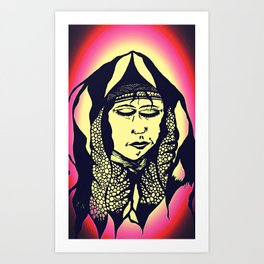Peaceful Native American - Art Print