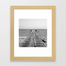 BEACH DAYS 45 - Bridge Black and white Framed Art Print
