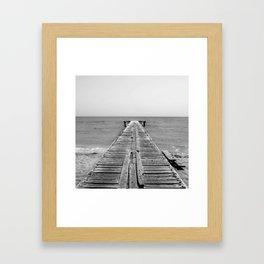 BEACH DAYS 45 - Bridge Black and white Framed Art Print