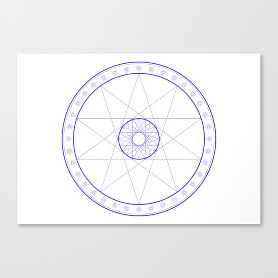 Anime Magic Circle 10 Canvas Print