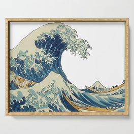 Katsushika Hokusai The Great Wave Off Kanagawa Serving Tray