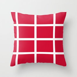abstraction from the flag of denmark Throw Pillow
