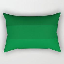 Rich Forest Evergreen Stripes Ombre Rectangular Pillow