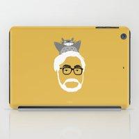 hayao miyazaki iPad Cases featuring Miyazaki, 1941 by Jarvis Glasses