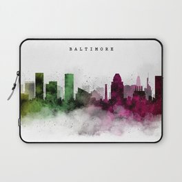 Baltimore Watercolor Skyline Laptop Sleeve