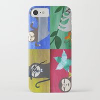 sloths iPhone & iPod Cases featuring collage of sloths - sloth pictures by Cathy Jacobs