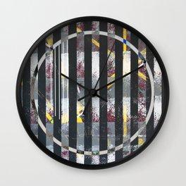 Polarized - circle graphic Wall Clock