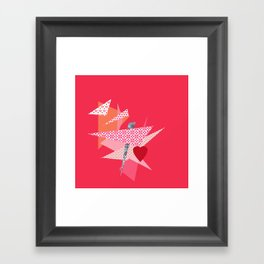 Valentine Abstract Framed Art Print