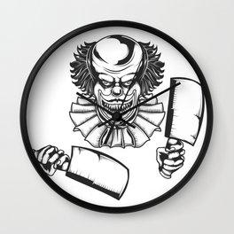 Killer clown Wall Clock