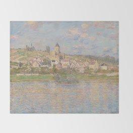 1879 Claude Monet Vetheuil Throw Blanket