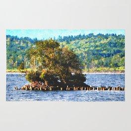 Tiny Island of The Big Lake Rug