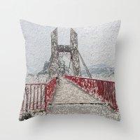 bridge Throw Pillows featuring Bridge by Mr and Mrs Quirynen