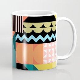 Colorful geometric patchwork pattern Coffee Mug