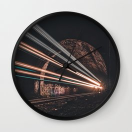 LASER TRAIN Wall Clock