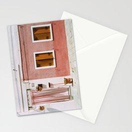 Sunny pink house Stationery Cards