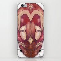 in the flesh iPhone & iPod Skins featuring Flesh&Roses by AP Illustration