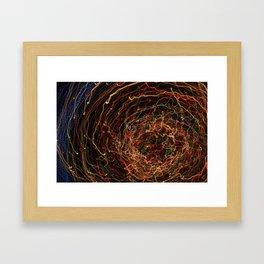 LIGHT SPIRAL Framed Art Print