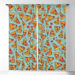 Funny pizza pattern Blackout Curtain