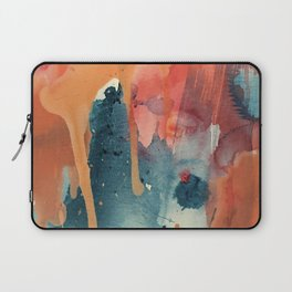 Pour Some Sugar on Me: a colorful mixed media abstract in pinks blues orange and purple Laptop Sleeve