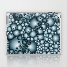 Abstract Blue Bubbles Macro Laptop & iPad Skin