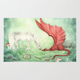 Unicorn and Dragon Rug