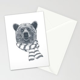 Winter Bear Drawing Stationery Cards