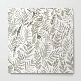 Grey Botanical Metal Print