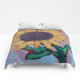 Blue Sunflower Comforters